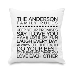 Cushion cover - Family Rules