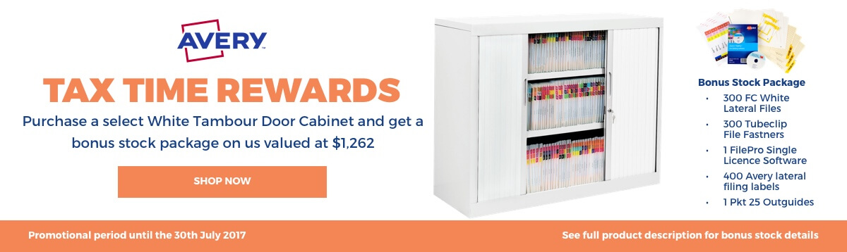 Free bonus sock package when you purchase a White Tambour Door Cabinet