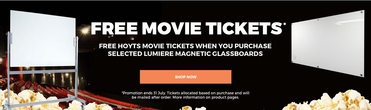 Free Movie Tickets with Lumiere Magnetic Glassboards