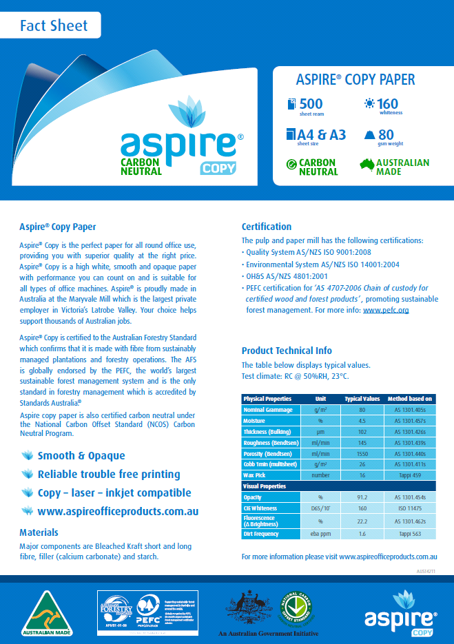 Aspire Paper
