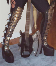 GENE SIMMONS LOVE GUN BOOTS for Kiss costume