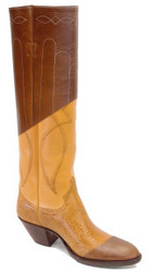 Tall Black Fancy Work (cowboy) Boots any Height/Size