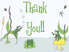 Frog Themed Thank You cards