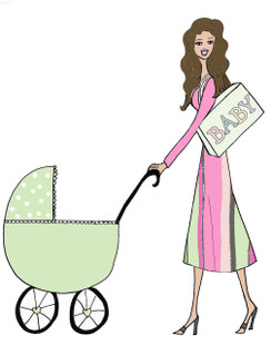 New Mama with baby cards