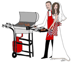 Bridal Cookout cards