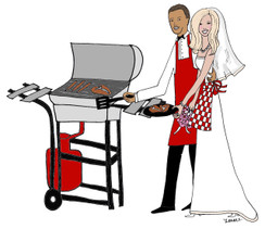 Interracial Bridal Cookout cards
