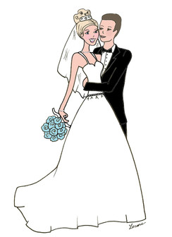 """""""Marriage"""" Bridal Couple cards"""