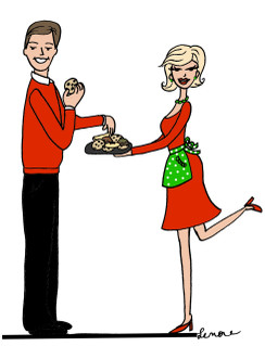 Holiday Baking Couple cards