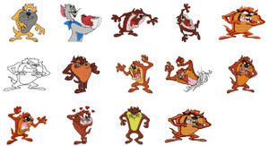 DISNEY Tazmanian devil MACHINE EMBROIDERY DESIGNS Set of 14