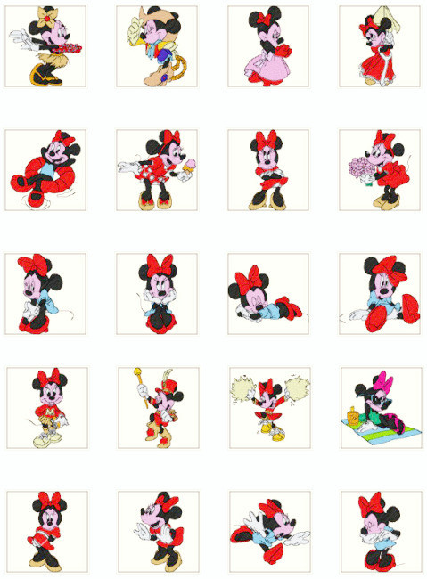 Minnie Mouse Machine Embroidery Designs Desizns