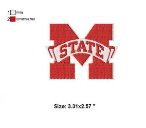 Mississippi State Bulldogs Embroidery Designs Patterns Instant Download