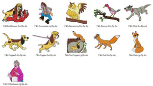 FOX AND HOUND DISNEY EMBROIDERY DESIGNS INSTANT DOWNLOAD BIG COLLECTION