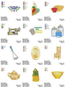 FLEA MARKET FANATIC EMBROIDERY DESIGNS INSTANT DOWNLOAD AMAZING COLLECTION
