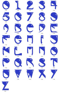 ALIEN ALPHABETS A-Z NUMBERS 0-9 EMBROIDERY DESIGNS INSTANT DOWNLOAD CUTE COLLECTION