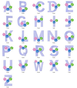 BABY ALPHA BLOCKS ALPHABETS A-Z  EMBROIDERY DESIGNS INSTANT DOWNLOAD CUTE COLLECTION
