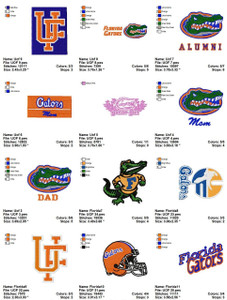 Florida Gators Sports Team EMBROIDERY DESIGNS INSTANT DOWNLOAD BEST  COLLECTION