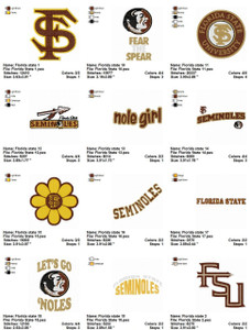 Florida State Seminoles EMBROIDERY DESIGNS INSTANT DOWNLOAD BEST COLLECTION