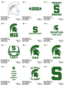 Michigan State Spartans   EMBROIDERY DESIGNS INSTANT DOWNLOAD BEST COLLECTION