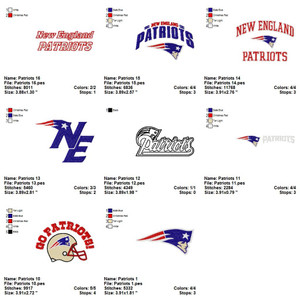 New England Patriots American Football  EMBROIDERY DESIGNS INSTANT DOWNLOAD BEST COLLECTION