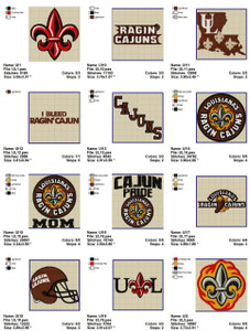 University of Louisiana  EMBROIDERY DESIGNS INSTANT DOWNLOAD BEST COLLECTION