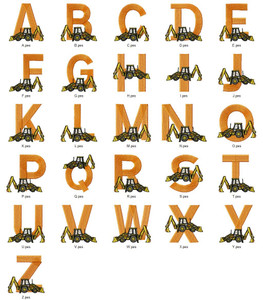 BACK DIGG'N ALPHABETS A-Z  EMBROIDERY DESIGNS INSTANT DOWNLOAD BEST COLLECTION