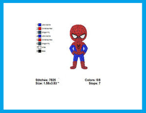 SPIDER MAN KID CHARACTER EMBROIDERY MACHINE DESIGNS DIGITAL DOWNLOAD SPIDERMAN