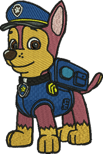 Chase Paw Patrol Embroidery Designs Instant Download