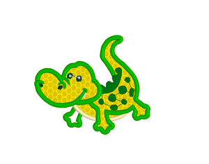 ALLIGATOR APPLIQUE 3 SIZES Embroidery Machine Patterns Designs Instant Download