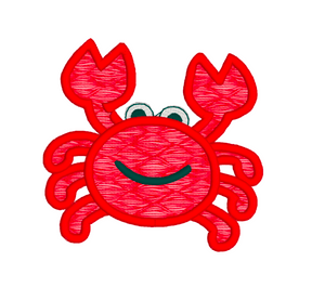 Appliqué CRAB 3 SIZES Embroidery Machine Patterns Designs Instant Download