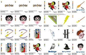 HARRY POTTER CHARACTERS EMBROIDERY MACHINE DESIGNS SET