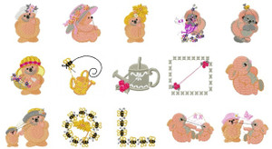 Cute Hedgehogs Machine EMBROIDERY DESIGNS