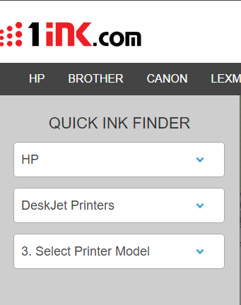 quick ink cartridge finder