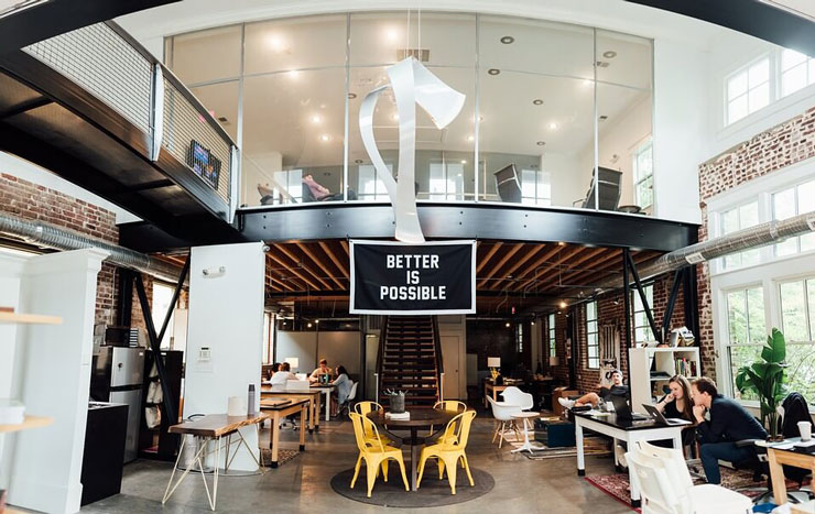 large office interior