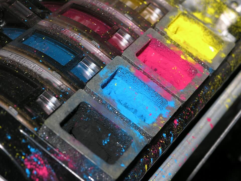 dried up printer ink