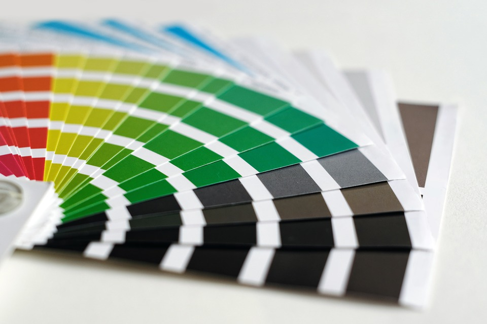 color samples with band lines
