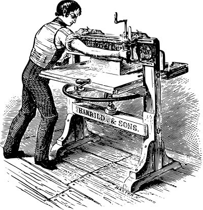 Old Traditional Ink Printer
