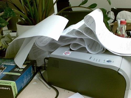 paper jam problem in printer