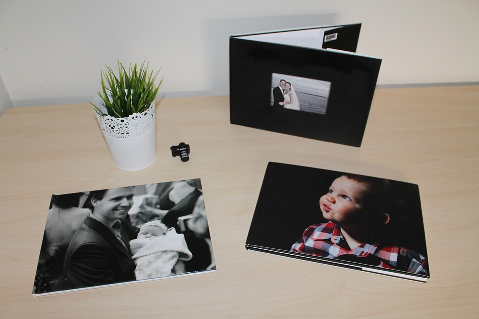 photo album and printed photographs