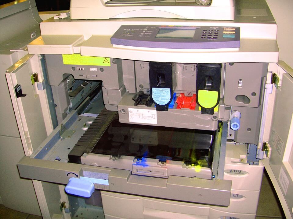 inside a multifunction laser printer