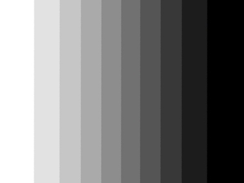 white to grey to black color scale