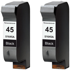 HP 45 - 51645A Black 2-pack replacement