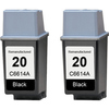 HP 20 - C6614A Black 2-pack replacement