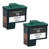 Lexmark #16 - 10N0016 Black 2-pack replacement