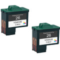 Lexmark #26 - 10N0026 Color 2-pack replacement