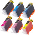 Canon Cli-8 Black and color set 6-pack replacement
