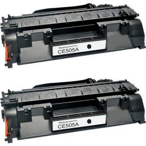 HP 05A - CE505A Black 2-pack replacement