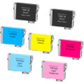 7 Pack - Remanufactured ink cartridge replacement for Epson T098 and T099