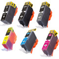 6 Pack - Compatible ink cartridge replacement for Canon PGi-220 and Cli-221 ink cartridges