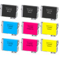 Epson T126 Black and color Set 9PK replacement