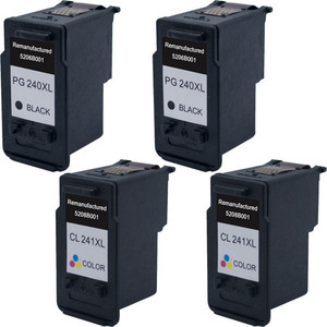 Canon PG-240XL - CL-241XL 4-Pack replacement